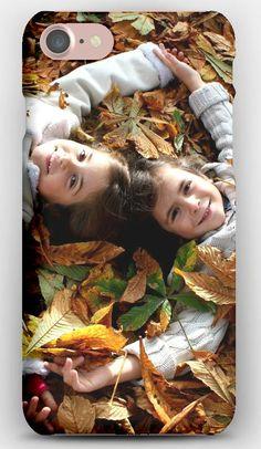 iPhone 7 Case Children, Pair, Down, Leaves, Autumn