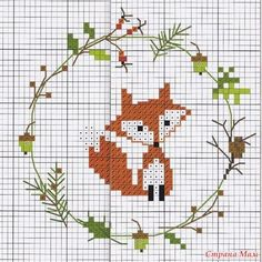 Autumn Pinky Ribbons #bander #herbst #pinky #autumn #bander #herbst #pinky #ribbons Stitch Crochet, Crochet Cross, Cross Stitch Designs, Counted Cross Stitch Patterns, Cross Stitch Charts, Christmas Cross Stitches, Fox Embroidery, Ribbon Embroidery, Embroidery Stitches