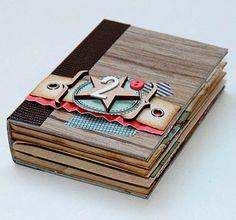 sweet memories: Mini Kit du mois, Mini Album Faux Bois LucKy Me
