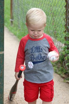 Little Brother baseball shirt, baseball sibling shirt, baseball game day shirt, little brother tee - Excited to share this item from my shop: Baseball Little brother shirt, baseball sibling shir - Toddler Baseball Shirt, Raglan Baseball Tee, Baseball Mom, Baseball Shirts, Baseball Season, 1st Birthday Shirts, Baseball Birthday Party, 5th Birthday, Birthday Ideas