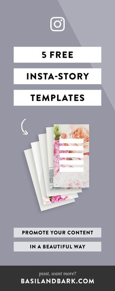 Not sure how to promote your content on Instagram without being super spammy? Grab these templates and promote your content in a beautiful way! Take advantage of Instagram Stories AND the new Highlights feature by pinning images that promote your content directly on your profile. Use these 5 FREE templates to stand out from the crowd and drive traffic to your content. | #socialmedia #instagram #instagramstories #instagramhighlights #growyourgram #templates #freebies