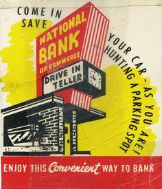 Matchbook Art, National Bank of Commerce