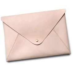 HarLex Personalized Leather Ipad Case In Envelope Clutch ($161) ❤ liked on Polyvore