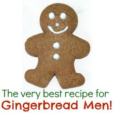 The very best gingerbread man cookie recipe Christmas Goodies, Christmas Desserts, Christmas Treats, Holiday Treats, Holiday Recipes, Christmas 2016, Ginger Bread Cookies Recipe, Cookie Recipes, Ginger Cookies
