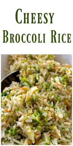 Cheesy Broccoli Rice - A fantastic versatile side dish loaded with cheesy rice and broccoli. Use the cheese and vegetable your family loves. via @https://www.pinterest.com/BunnysWarmOven/bunnys-warm-oven/