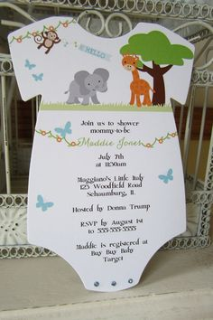 The Original Zoo or Jungle Theme Baby by BeautifullyInviting, $2.00