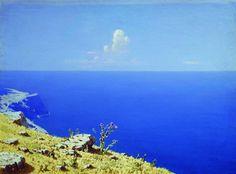 The Sea. The Crimea Artist: Arkhip Kuindzhi Completion Date: c.1908 Style: Realism Genre: landscape Technique: oil Material: canvas Dimensions: 40 x 54 cm
