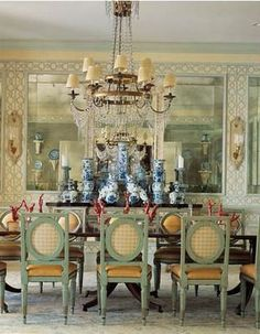 Palm Beach Chic dining room, by Scott Snyder