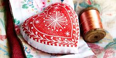 country living pin cushion