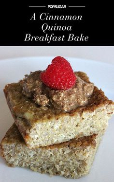 Gluten-Free Cinnamon Quinoa Bake--subbed coconut milk for soy, doubled cinnamon, skipped syrup