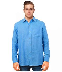 Cobrio Blue Casuals Regular Fit Shirt