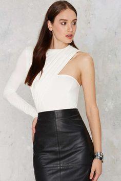 Asymmetrical Bodysuit