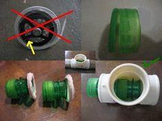 Foto: Falha da válvula: o plástico quebrou. A nova válvula é agora realmente…