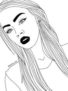 Art girl drawing discovered by Mielletanne✿ on We Heart It Tumblr Girl Drawing, Tumblr Drawings, Tumblr Art, Tumblr Outline, Outline Art, Outline Drawings, Amazing Drawings, Easy Drawings, Amazing Art