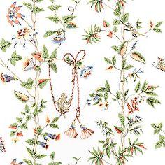 Thibaut Thibaut Classics - Monkey Swing - Wallpaper - White
