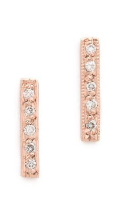blanca monros gomez Dainty Diamond Bar Stud Earrings // lovelovelovelove these. their price tag will keep me in check though. $480