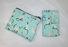 Siamese Cats Fabric Card Holder and Coin Purse £8.00