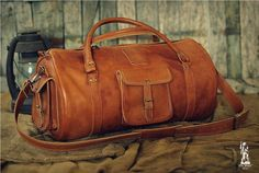 Leather Sports Bag 24 / Leather Duffle Bag / door OldFisherBags