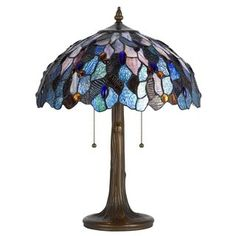 Shop for Antique Brass Glass Cast Metal Tiffany Style Lamp. Get free shipping at Overstock.com - Your Online Home Decor Outlet Store! Get 5% in rewards with Club O! - 20400465