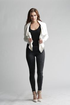 Your go-to pants this season are here. Sexy, fun and edgy, but still oh so comfortable! Fabric has lots of stretch for comfort and to accommodate all body types. Size runs small(if you're normally a small you can wear medium, if you're normally a medium you can wear a large).​Model is wearing a size medium.Click here to see them in brick, green, grey, white and pink.