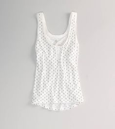AE Feather Light Dot Henley Tank