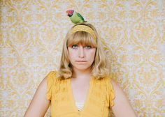 Parakeet self-portraits | Diane Villadsen Photography | SF Bay Area Photographer | #vintage #60s #parakeet #photography