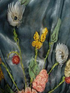 Ribbonwork Detail - (Sadie) Nemser Original OOAK Antique Dress - 1924, origin Vilna, Russia/Soviet/Lith.