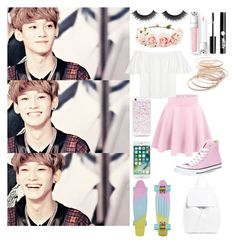 """Hanging out with Chen in the summer"" by prince-chen-of-exo ❤ liked on Polyvore featuring interior, interiors, interior design, home, home decor, interior decorating, Forever 21, Charlotte Russe, Red Camel and Converse"