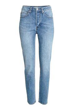 Relaxed High Jeans - Denimblauw - DAMES | H&M NL