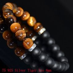Mans-Bracelets-Dumbell-Swarovski-Skull-Leather-Lava-Rock-Beads-Onyx-Anchor-925