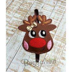 Reindeer BuggaBand Headband Slider Embroidery Design