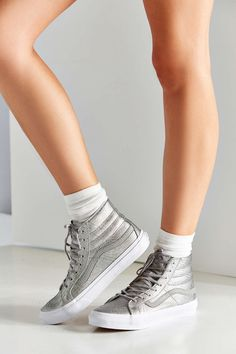f92e8ee634 Urban Outfitters - Urban Outfitters. Metallic VansSk8 Hi ...