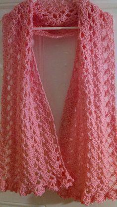 Pink Ribbon Prayer Shawl | AllFreeCrochet.com More