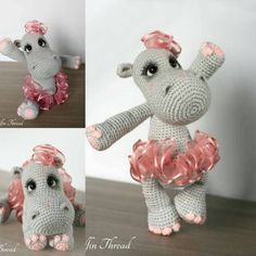 Happiness the ballerina hippo, a NEW pattern is out!