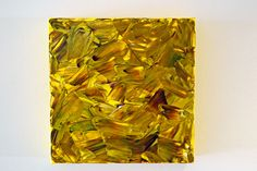 Small #mosaic #yellow oil on #canvas