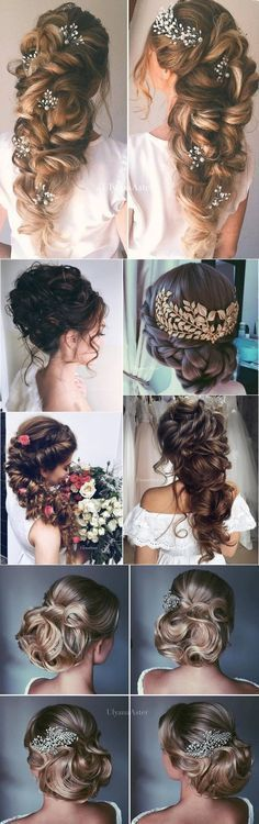 Ulyana Aster Wedding Hairstyles for Long Hair / http://www.deerpearlflowers.com/wedding-updo-hairstyles-for-long-hair-from-ulyana-aster/2/