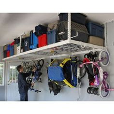 Saferacks Overhead Ceiling Garage Storage Systems is the premier overhead garage storage system. These high quality storage racks help to make your garage a more functional space for your vehicles and toys.