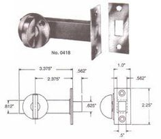Door Hardware Lock Mortise Bolt Thumb Turn Latch Security