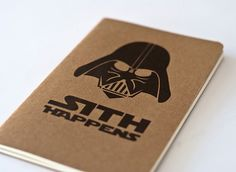 Star Wars Sith Happens  Moleskine Cahier by JulienDenoyer on Etsy, $9.99
