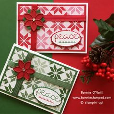 #christmasquilt #bundle #bonniestamped #christmascardclub #stampinup