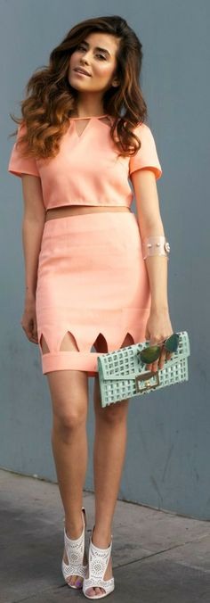 Coral Separates + Mint Clutch