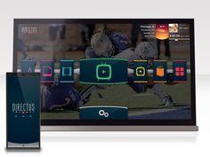 Directus Smart TV UI design on Behance Interactive Table, Interactive Design, User Interface Design, Ui Ux Design, Mirror Tv, Tv Set Design, Mobile Web Design, Tv App, Digital Tv