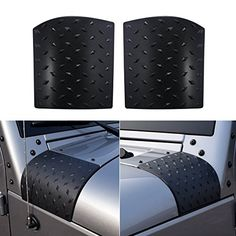 ICars New Black Cowl Body Armor Cowling for 2007-2016 Jeep Wrangler JK Unlimited Rubicon Sahara Accessories Pair. For product info go to:  https://www.caraccessoriesonlinemarket.com/icars-new-black-cowl-body-armor-cowling-for-2007-2016-jeep-wrangler-jk-unlimited-rubicon-sahara-accessories-pair/
