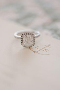 halo engagement ring   Britt Croft