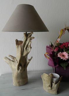 Lampe N°45     Au fil de l'eau - Bois flotté