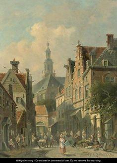 Villagers In A Dutch Town 3 - Adrianus Eversen