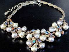HAR Gorgeous Corn Kernal Rhinestone Necklace