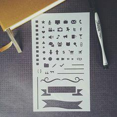 Pro Bullet Stencil for Bullet Journal, Filofax, Midori Traveler's Notebook…