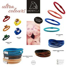 CRYSTALP Ultra Colours Mesh Bracelet, Allergy Free, Precious Metals, Allergies, Colours, Jewellery, Leather, Handmade, Jewels