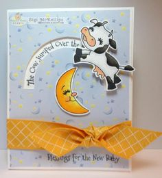 Cow Over The Moon Penny Slider by GiGi618 - Cards and Paper Crafts at Splitcoaststampers